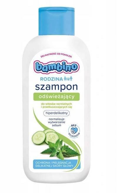 Bambinorodzina szampon do włosów odświeżający 400ml
