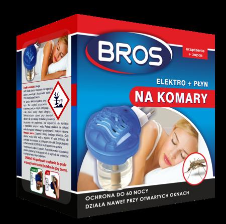 Bros Elektro.+płyn przeciw komarom 60 nocy