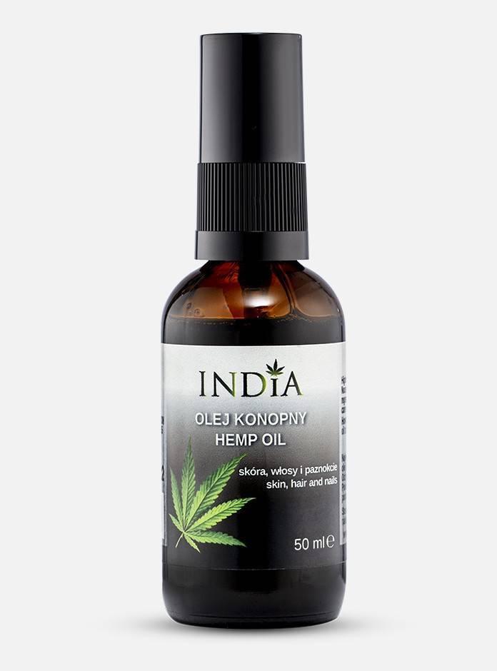 India olej konopny do ciała, włosów i paznokci 50 ml