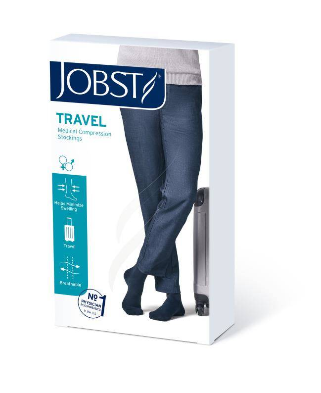 Jobst Travel podkolanówki zamknięte palce 15-20mmHg beżowe 3