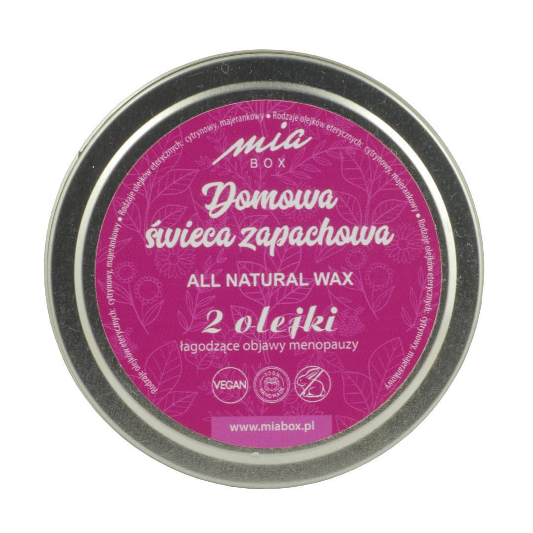 Miabox świeca zapachowa łagodząca objawy menopauzy 190g