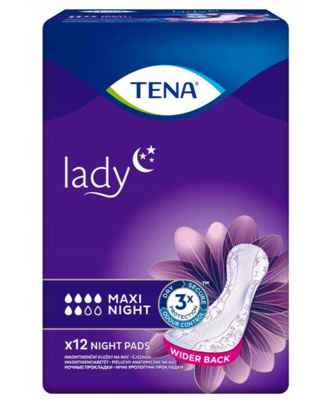 Pieluchy anatomiczne Tena Lady Maxi Night 12 SZT