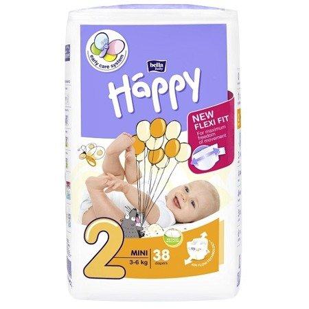 Pieluszki dla dzieci Happy Mini 38 SZT