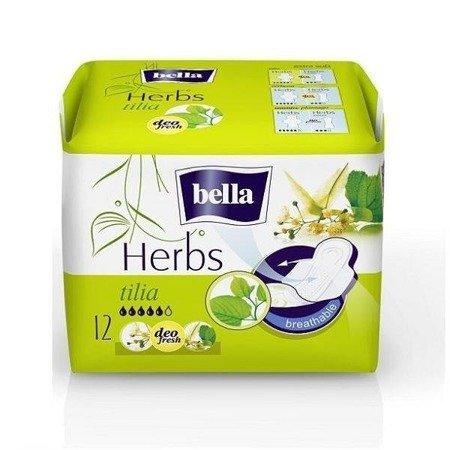 Podpaski Bella Herbs z kwiateml lipy 12 SZT