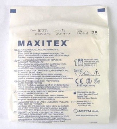 Rękawice Chirurgicz. Sterylne pudrowane Maxitex6,0