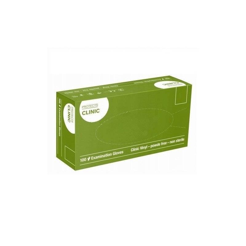 Rękawiczki niejałowe vinylowe niepudrowane protects clinic L 100 szt zestaw 10 szt