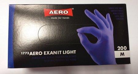 Rękawiczki nitrylowe bezpudrowe niebieskie rozmiar M 200 szt