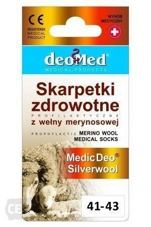 Skarpetki zdrowotne Medic Deo Silverwool szare