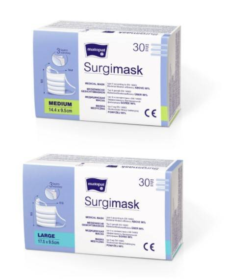 Surgimask maski medyczne 3-warstwowe 30 szt.