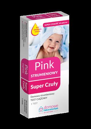 Test ciążowy strumieniowy pink super czuły 1 SZT.