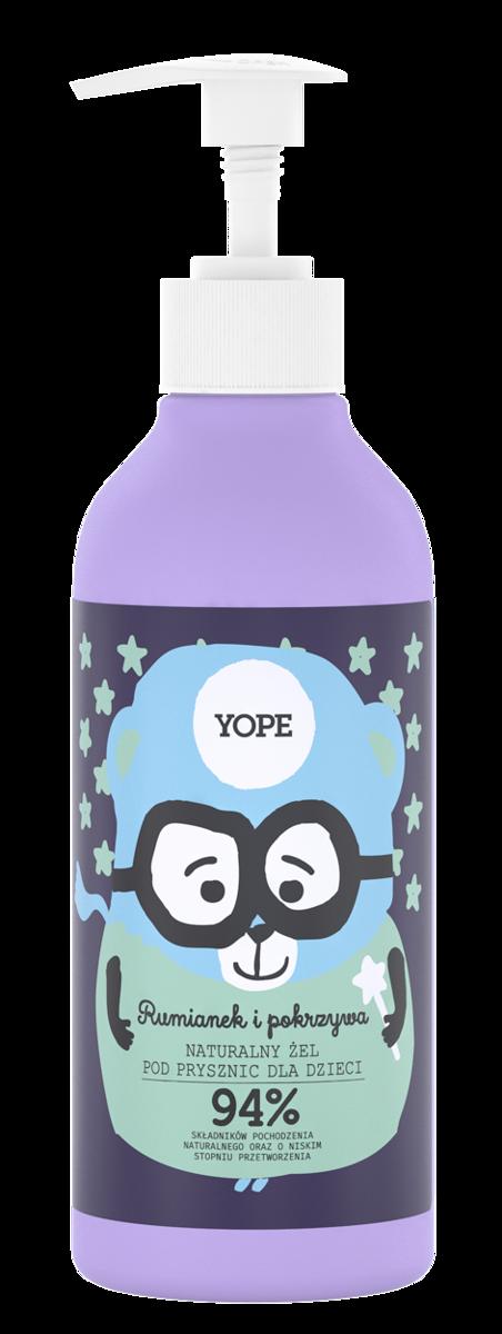 YOPE żel pod prysznic dla dzieci rumianek i pokrzywa 400ml