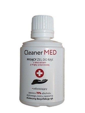 Żel do mycia rąk bez użycia wody z ekstraktem z mięty pieprzowej Cleaner Med 70% alkoholu 100ml