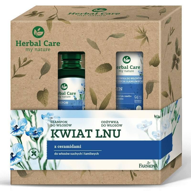 Zestaw Herbal Care pielęgnacja włosów Len (szampon, odżywka)