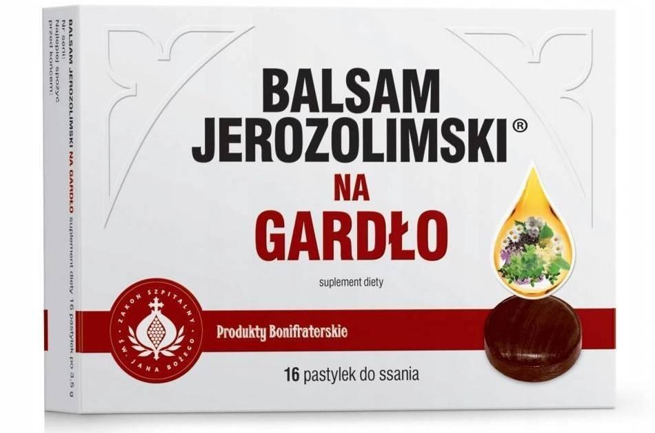 Bonifrates balsam jerozolimski na gardło 16 tabletek