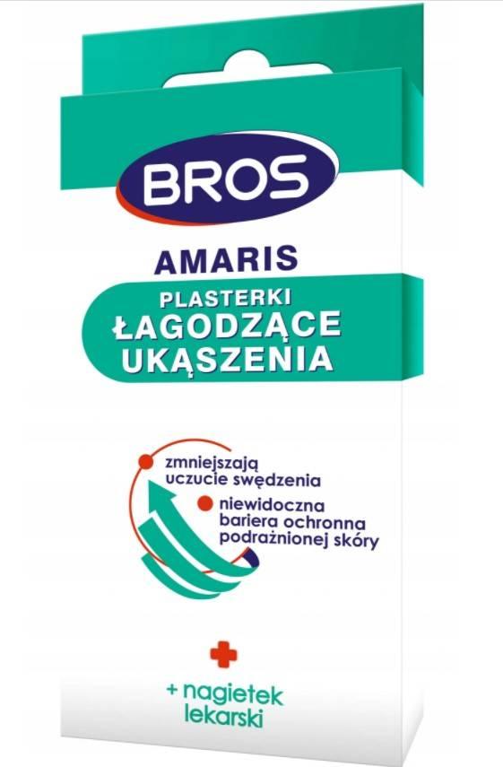 Bros plasterki łagodzące ukąszenia 20 sztuk amaris