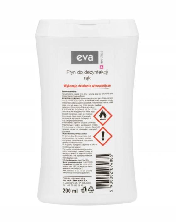 Eva Medica płyn do dezynfekcji rąk 200ml