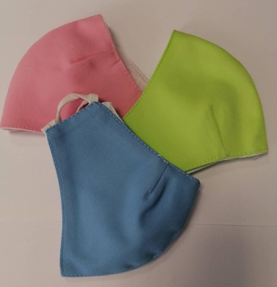 Maseczka uniwersalna bawełniana dla dzieci kolor niebieski